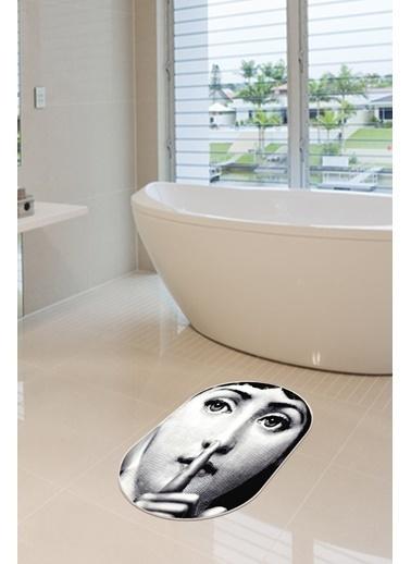 Arma House 40x60 Dijital Kaymaz Tabanlı Fornasetti Banyo ve Kapı Paspası Renkli